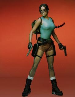 Lara Weller as Lara Croft