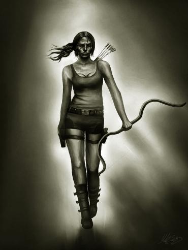 Tomb Raider artwork by Maor Hazon