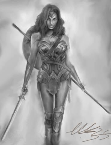 Wonder Woman painting by Maor Hazon