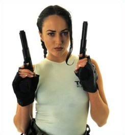 Natalie Cook as Lara Croft