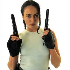 Natalie Cook as Lara Croft